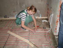 Монтаж электрического теплого пола в Краснокамске. электрический теплый пол